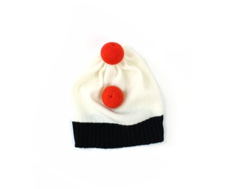 Circus Hat - soft knitted wooly hat