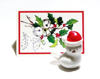 Precious Chickadee Avon 1970s Here's My Heart Santa Hat White Bird Figurine Original Box Collectible Decanter