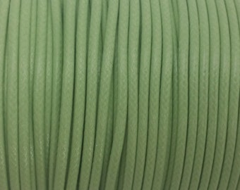 5 YARDS - 2MM Green Woven Braided Waxed Nylon Cording Trim #18