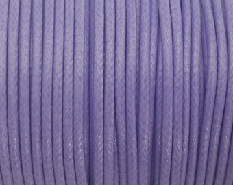 5 YARDS - 2MM Purple Woven Braided Waxed Nylon Cording Trim #40