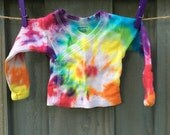 Newborn Rainbow Baby Tie Dye Shirt Long Sleeve