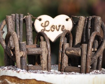 Personalized Rustic Cake Toppers~ Grapevine Twig Chairs~Vineyard~Woodland~Rustic~Cottage Wedding~ Rustic Chic~ Burned/Engraved.