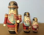 Russian Nesting Dolls Set of 3 Nutcrackers
