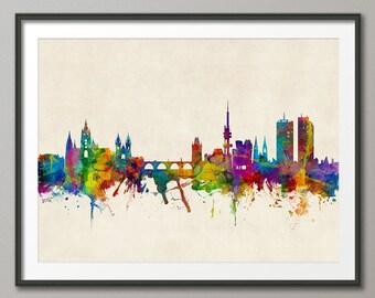Prague Skyline, Prague (Praha) Czech Republic  Cityscape Art Print (2376)