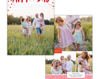 INSTANT DOWNLOAD - Valentine Photocard Template - e1251