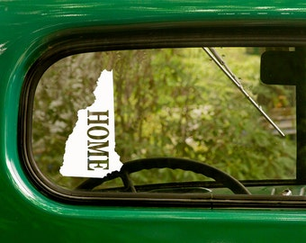 2 New Hampshire Decals Home State Sticker For Car Truck Jeep Rv Bumper Window Laptop 4x4