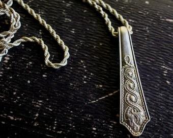 Irish Republic Vintage Silver Pendant Silverplate