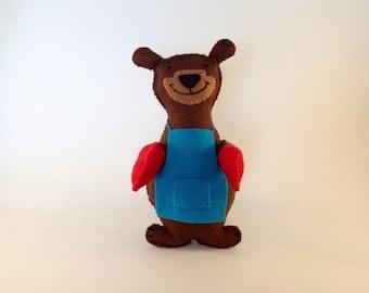 Baking Bear! Bake Escape Bear -felt toy collectable