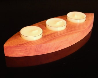 Cedar Candle Holder - Tea Lights Included