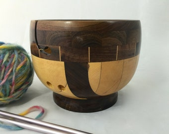 Walnut Stripped Yarn Bowl KB 104