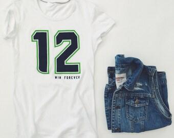 12 Win Forever - Women's White T-Shirt