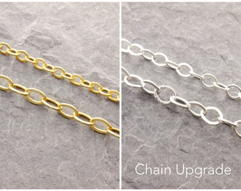 Chain Upgrade, fat chain, heavy chain, upgrade chain, thicker chain, thick chain, sterling silver, gold filled, heavier chain, AD