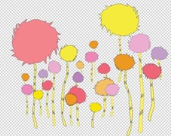 truffula trees- png tranparent background files.