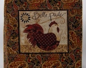 Brown Paisley Mixer Cover with Hen, Kitchenaid Mixer Cover