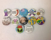 """Too Jelly - 1.25"""" Pin-back - 12 Button Bundle"""