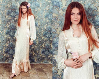 vintage gunne sax dress,victorian dress,boho dress,bohemian dress,white lace dress,hippie wedding dress,bohemian white dress,boho wedding