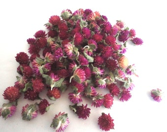 Organically Grown Dried Pom Pom Flower Buds
