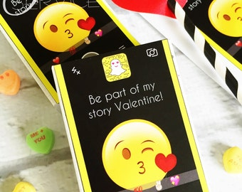 Snapchat Teen/Tween Valentine's Day PRINTABLE Labels