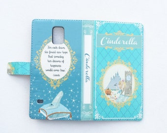 Cinderella Gift, Cinderella Phone Case, Cinderella iPhone Case, Book Phone Case, Book iPhone Case, iPhone X, 8, 7, Wallet Phone Case