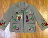 1950s embroidered mexican tourist jacket
