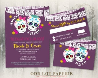 view offbeat wedding invites by oddlotpaperie on etsy, Wedding invitations
