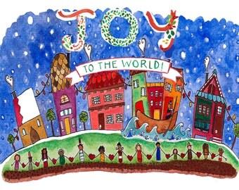 Joy to the world-Single greeting card