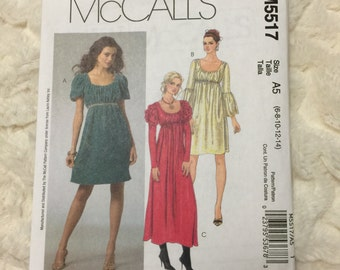 McCall's Laura Ashley Misses 13 piece Dresses Sewing Pattern M5517 UC Uncut FF Size 6-8-10-12-14