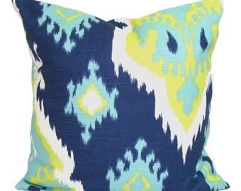 BLUE Pillows, Pillow Cover, Decorative Pillow, Blue Throw Pillow, Blue and Green Pillow, All Sizes, Bedding, Pillow Sham, Blue Euro, Cushion
