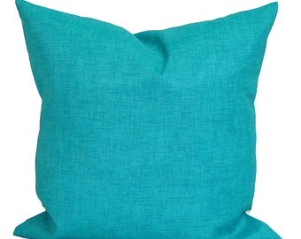 BLUE OUTDOOR PILLOWS, Solid Blue Pillow Cover, Decorative Pillow, Navy Pillow, Aqua Pillows, Outdoor, Outdoor Pillow Covers,Cm, Beach Decor