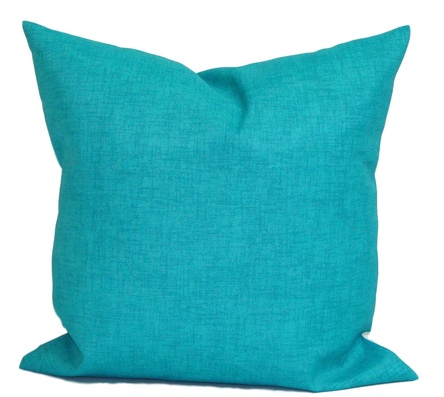 BLUE OUTDOOR PILLOWS Solid Blue Pillow Cover Decorative