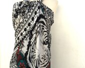 Swim suit coverup coverups cover up swim, beach coverup coverups, large summer scarf,tiger print Popular Items-by PiYOYO