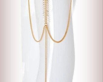 Upper Arm Cuff armcuff ,prom dress jewelry, funky Upper Arm Bracelet, Gold Armlet, Boho Body Jewelry, Gold Arm Cuff - By PiYOYO