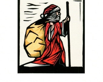 12 Greeting Cards from a linocut by Ken Swanson (9753)