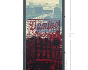 Baltimore Framed Silkscreen Print with Locust Point Icons