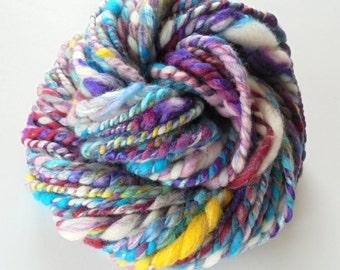 BOUQUET - Super Bulky Handspun Yarn, 2-ply Soft Handspun, Luxury Handspun Yarn, Finn Wool, Merino Handspun, BFL, Silk, Angora, Chunky Yarn