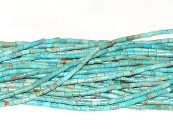 """Turquoise 3x5mm Tube Gemstone Beads - 15.75"""" Strand"""