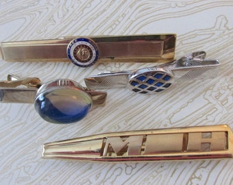 Snazzy Collection of Vintage Tie Clips & MoneyClip