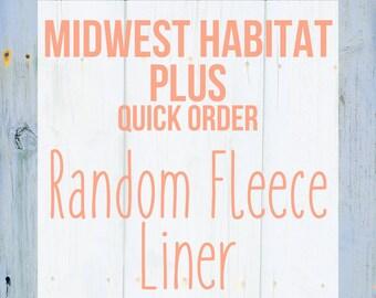 Midwest Habitat Plus Random Fleece Cage Liner