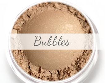 """Stardust Highlighting Powder Sample - """"Bubbles"""" (pale golden champagne highlight, Net Wt .5g pot) - Vegan"""