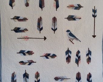 Feathers, Arrows and Birds Quilt - Feather Quilt