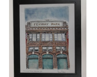 Boston red sox gift Red Sox Poster art print - Fenway park - Boston art
