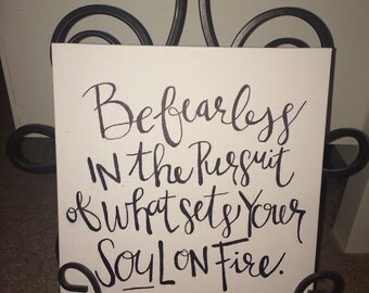 Quote Canvas - Be Fearless