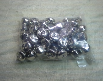 "20mm 3/4"" Silver Sleigh Bells QTY 50 - FREE SHIPPING"