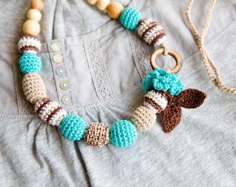 SALE - Ready to ship - Boho Nursing necklace -  Teething Necklace - Sling accessory
