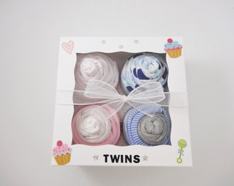 Twin Boy and Girl Baby Gift  - 12 piece set Baby gift for Twin Boy and Girl