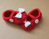Baby Girl, Baby Girl Booties, Valentines Booties, Crochet Booties