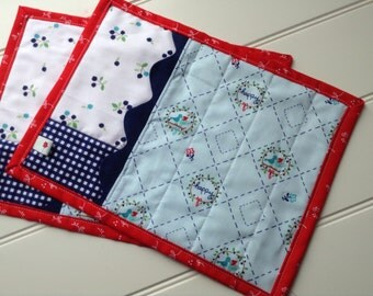 Pair of Playtime Snack Mats Featuring Tasha Noel's 'Country Girls'