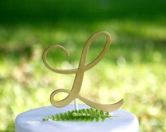 Monogram Letter L Elegant Font |Initial Cake Topper | 5"
