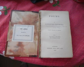 POEMS by Coventry Patmore eighth edition 1903  VOL. I. Angel in the house and The victories of LOVE.