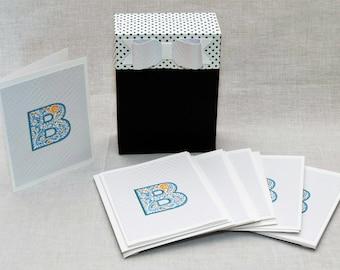 Monogram Note Cards